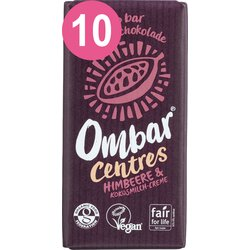 Ombar 10 er Pack Ombar CENTRES Himbeere Kokosmilch Creme...