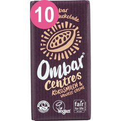 Ombar® 10 er Pack CENTRES Kokosmilch Vanille Creme Bio...